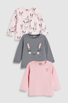 Bunny Long Sleeve Tops Three Pack (3mths-6yrs)