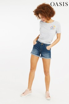 Oasis Blue Abigail Denim Shorts