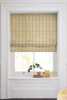 Windowpane Check Roman Blind