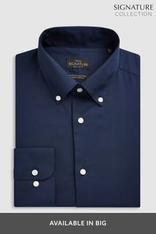 Коллекционная рубашка из эластичного египетского хлопка с воротником на пуговицах