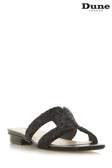 Dune London Black Synthetic Laysay Sandal
