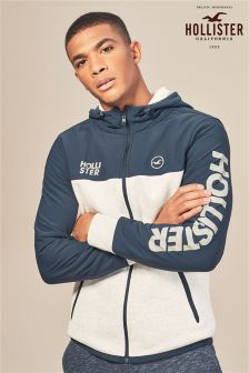 Hollister Navy/Grey Colourblock Hoody