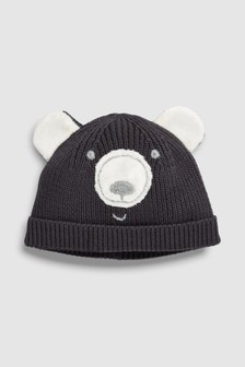 Bear Knit Hat (0mths-2yrs)