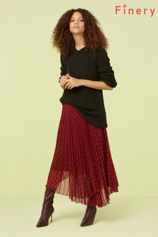 Finery London Multi Nellie Pleated Midi Skirt