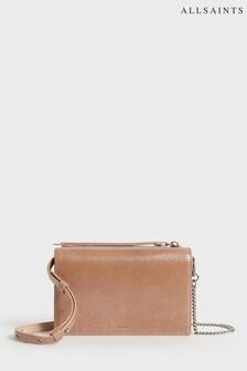 AllSaints Pink Leather Glitz Cross Body Bag