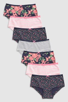 Floral Hipsters Seven Pack (3-16yrs)