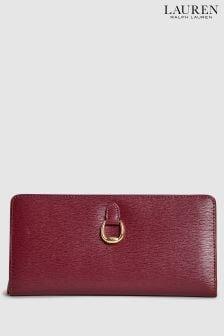 Lauren Ralph Lauren® Bennington Geldbörse mit Druckknopf, weinrot