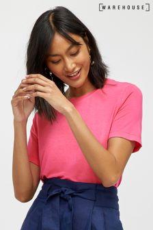 Warehouse Pink Smart Viscose Tee