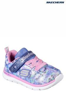 Baskets Skechers® Skech Lite Blossom Cutie bleues à motifs floral et camouflage