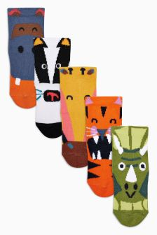 Animal Socks Five Pack (Younger)