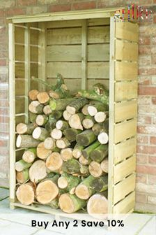 Tall Wall Log Store By Shire