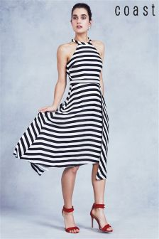 Coast Mono Dillon Stripe Midi Dress