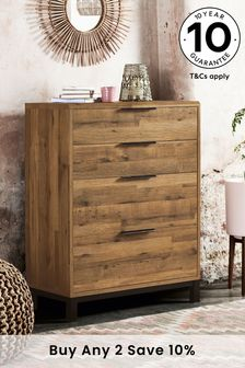 Bronx Metal 4 Drawer Chest