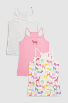 Animal Cami Three Pack (3-16yrs)