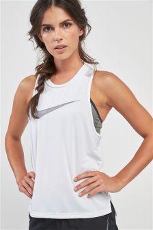 Nike Miler White Running Tank