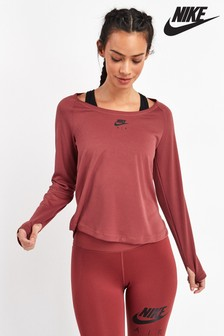 Nike Air Red Long Sleeved Running Top