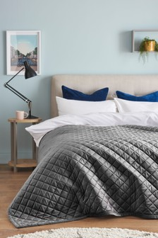 Metallic Stars Pattern Luxurious Throws Soft Warm Cosy Sofa Bed Fleece Blankets