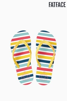 FatFace Blue Hope Multi Stripe Flexi Flip Flop