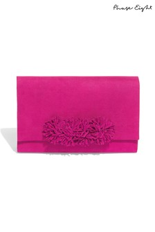 Phase Eight Purple Tammy Tassel Clutch Bag