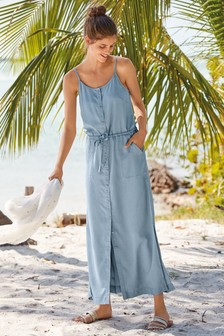 Maxi Button Through Dress