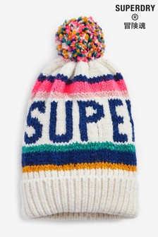 Superdry Cream Bobble Hat