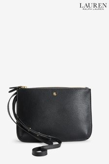 Ralph Lauren Black Vegan Leather Carter Cross Body Bag