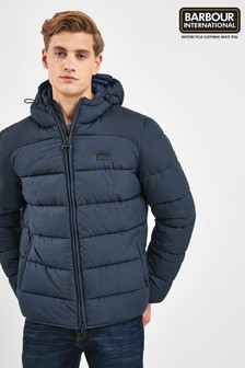 Barbour® International Navy Court Quilted Jacket