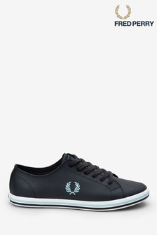 Fred Perry Navy Baseline Pique Tricot Trainers