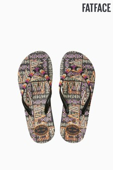 FatFace Red Hope Tribal Triangle Flip Flop