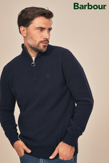 Barbour® Essential Lambswool Half Zip Jumper