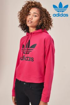 adidas Originals Red Leoflage Crop Hoody