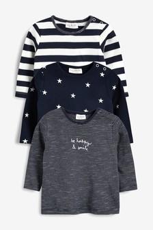 Star And Stripe T-Shirts Three Pack (0mths-2yrs)