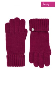 Joules Purple Joanie Knitted Gloves