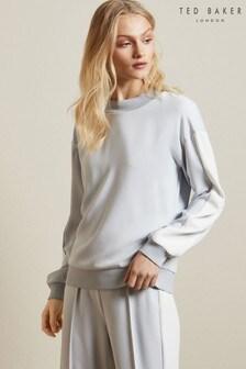 Ted Baker White Keelee Panelled Sweatshirt