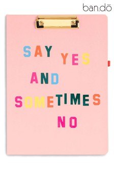 ban.do Get It Together 'Say Yes' Clipboard Folio