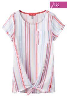 Joules Cream Summer Stripe Tiely T-Shirt