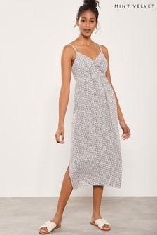 Mint Velvet White Sofia Print Cocoon Dress