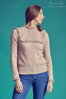 Outside The Lines Blush Victoriana Blouse