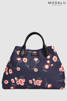 Modalu Navy Print Lexi Large Shoulder Bag