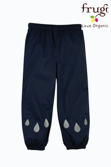 Frugi Blue Recycled Polyester Waterproof Trousers