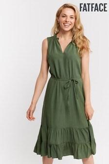 FatFace Green Cecille Midi Tiered Dress