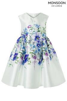 Monsoon Blue Eden Print Dress