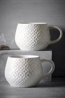 Lustre Embossed Mug