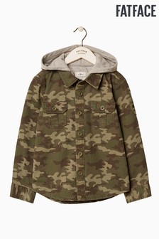 FatFace Green Camo Shacket