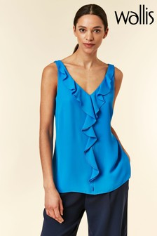 Wallis Blue Frill Front Cami