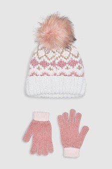 Chenille Fairisle Pattern Two Piece Set (Older)