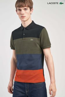 Lacoste® Nevada Orange Stripe Polo
