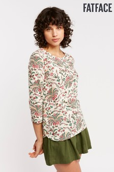FatFace Natural Tulip Alhambra Palm Tee