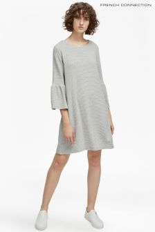 French Connection Grey Flare Sleeve Dress