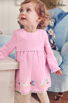 Boden Pink Embroidered Woven Dress
